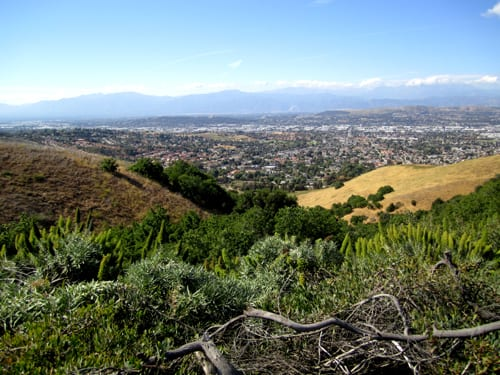 View of Chino Hills from mountains